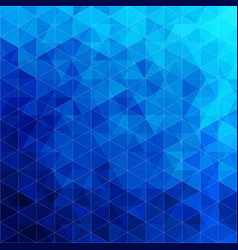 Triangular abstract background blue ocean vector