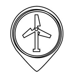 turbine air energy icon vector image