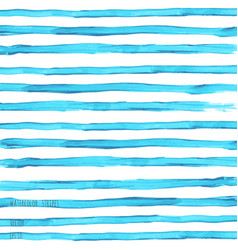 Turquoise blue watercolor striped texture vector