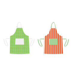 two aprons with kitchen patterns vector image