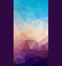 Vertical flat triangle background for smartphone vector