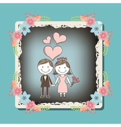 Wedding frame design vector
