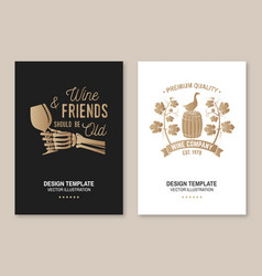 Winery company poster flyer template card vector