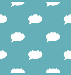 chat pattern seamless blue vector image vector image