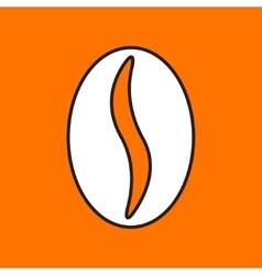 coffee bean icon Eps10 vector image