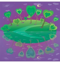 fantasy landscape Forest and sky vector image vector image