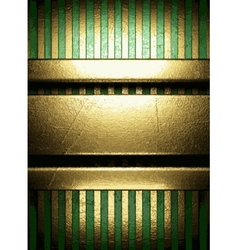 gold on green background vector image