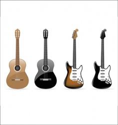 guitars vector image vector image