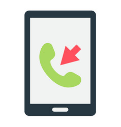 Incoming call flat icon contact us and website vector