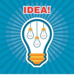 Creative Idea - Light Bulb Concept vector image vector image