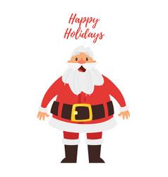 greeting card with santa claus vector image vector image