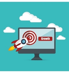 growth business concept star up target vector image