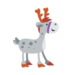 Little Toy Horse Isolated on White Cute Deer vector image vector image