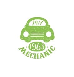 Mechanic Green Vintage Stamp vector image vector image