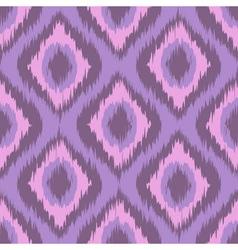 Pink tradition ikat ornament zig zag gradient vector