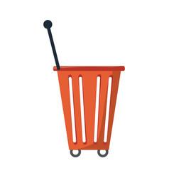shopping basket icon image vector image