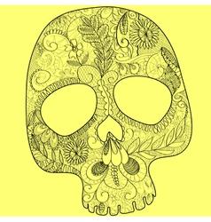 Skull lace black vector image