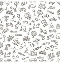Transport pattern black icons vector image vector image