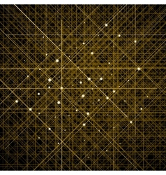 Background with thin golden crossed lines vector image