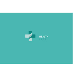 bright logo on medicine and health chat vector image vector image