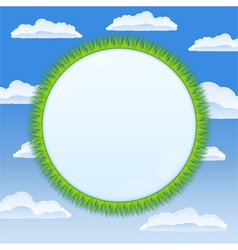 circle with grass vector image vector image