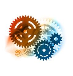 cogwheel background vector image