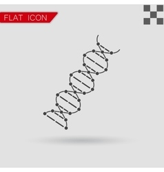 image DNA Drawing Flat Style with red vector image vector image