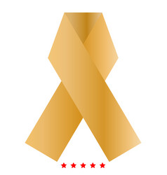 ribbon icon color fill style vector image