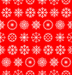 big snowflakes set in flat style colorful vector image vector image