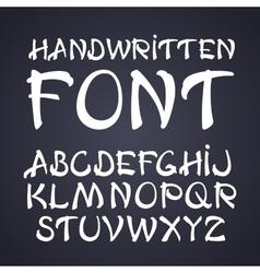 handwritten brush font White letters on vector image