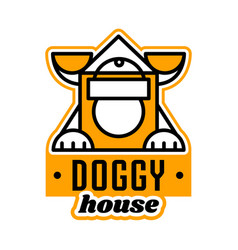 logo on the theme of the house for dogs kennel vector image vector image