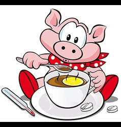swine flu cartoon vector image