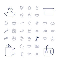 37 hot icons vector