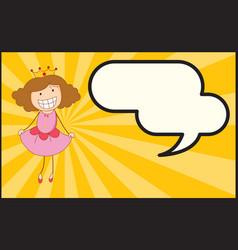 a queen with speech balloon vector image