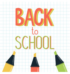 a welcome sign - back to school vector image