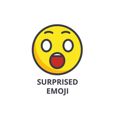 Amusing emoji line icon sign vector
