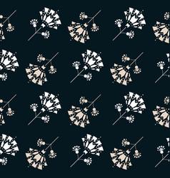 Art deco style inspired snowdrop florals vector