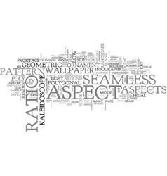 aspect word cloud concept vector image