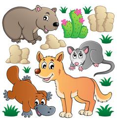 Australian wildlife fauna set 1 vector
