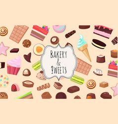 bakery and sweets set banners web design vector image