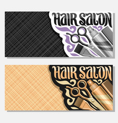 Banners for hair salon vector
