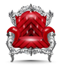 Baroque armchair silver ornament vintage vector