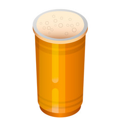 beer plastic cup icon isometric style vector image