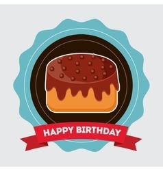 Birthday cake desserts vector