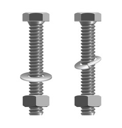 Bolts and nuts realistic vector