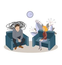 Cartoon psychotherapy man vector