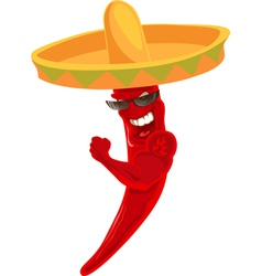 Chili sombrero vector