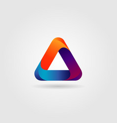 colorful looping triangle logo sign symbol icon vector image