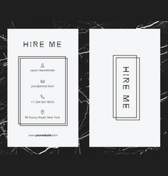 corporate white business card template vector image