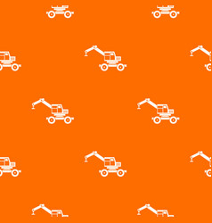 crane truck pattern seamless vector image